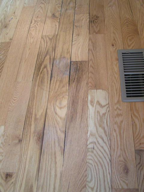 Water damage wood flooring new construction in Berthoud Co ...