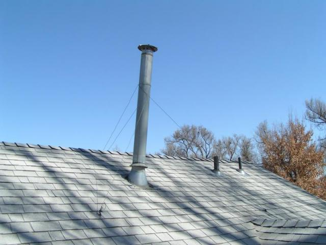 Vent Stack So High It Needs Guy Wires At A Loveland Co