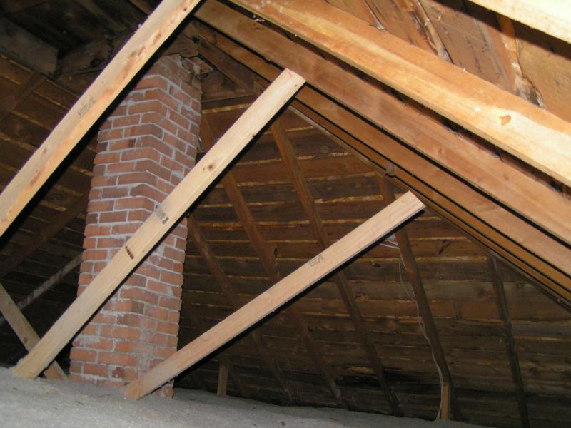 New framing supports in an Loveland Co attic. | Aaron\'s Home Inspections