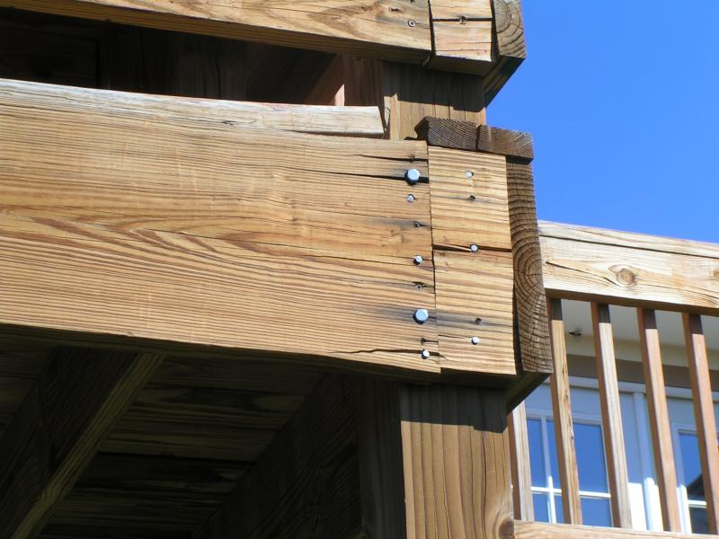 Improper connection of deck framing at a Fort Collins Home | Aaron\'s ...