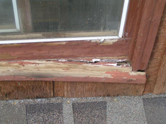 Window sill deteriorating at a windsor co home aaron 39 s - Replacing a window sill exterior ...